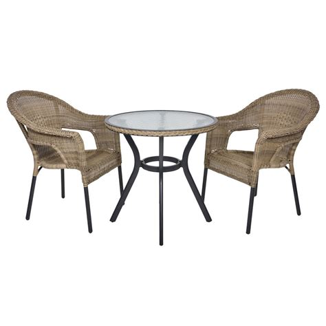 rattan bistro 2 seat garden furniture table