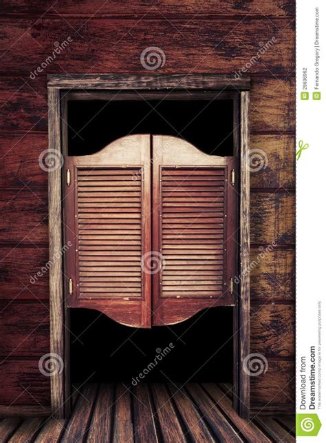 vintage wooden saloon doors stock photography image