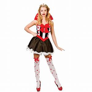 Ladies Queen of Hearts Costume for Royal Fancy Dress ...