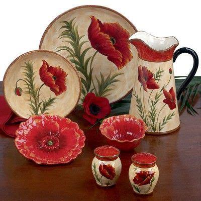 Red Poppy Dinnerware & Patterned Dinnerware U0026 Sets