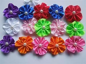 DIY: Make Simple Ribbon Flowers - Step by step - K4 Craft