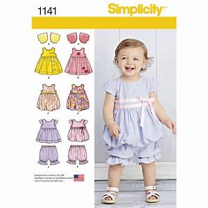 Pattern for Babies' Dresses Simplicity