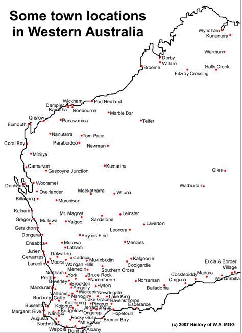 australia map wa