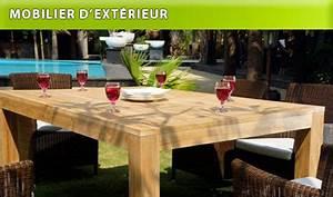 Fauteuil Exterieur Pas Cher : meuble design en teck et salon de jardin pas cher teck in home ~ Teatrodelosmanantiales.com Idées de Décoration