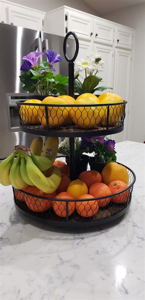 colorful fruit basket idea kitchen island decor fruit