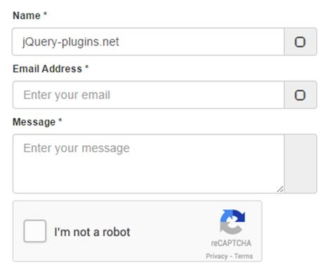 bootstrap contact form with google 39 s recaptcha jquery