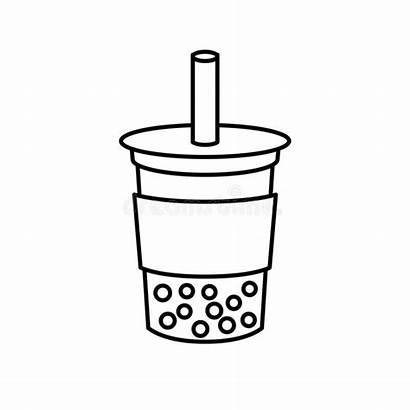 Tea Milk Bubble Line Pearl