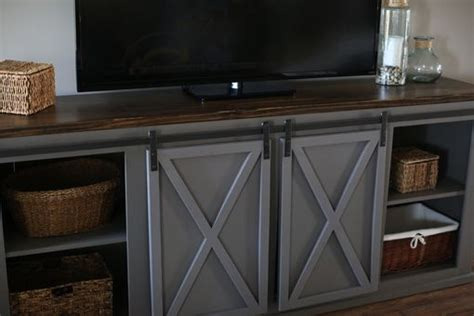buy  custom  sliding barn door entertainment center