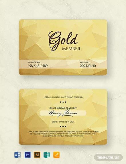 membership card templates word  psd