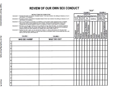 hazelden 4th step worksheet lesupercoin printables worksheets