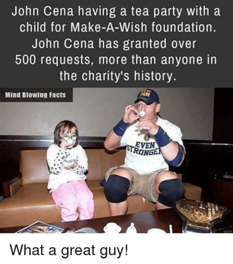 Tea Party Meme - john cena having a tea party with a child for make a wish foundation john cena has granted over