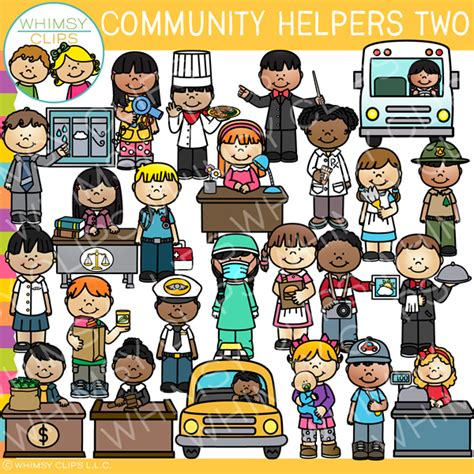 Community Helpers Clipart Community Helpers Clip Images Illustrations