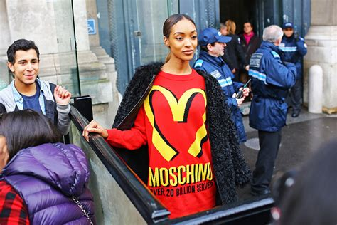 mcdonalds sweater at the drive in moschino mcdonalds peeper