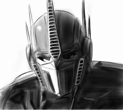 Optimus Prime Sketch Drawing Face Transformers Illust