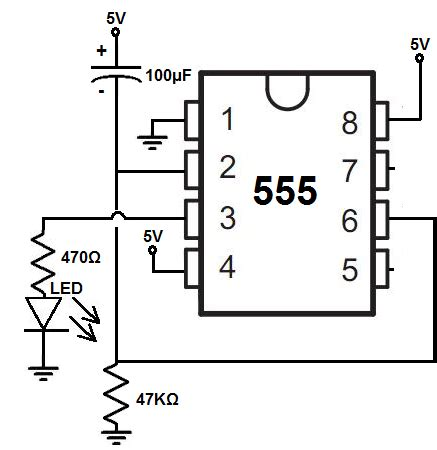 how to build a delay before turn on circuit with a 555 timer