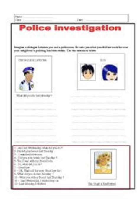 worksheets investigation