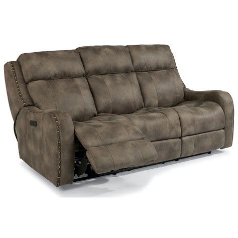 power reclining sofa with usb ports flexsteel latitudes springfield power reclining lay flat