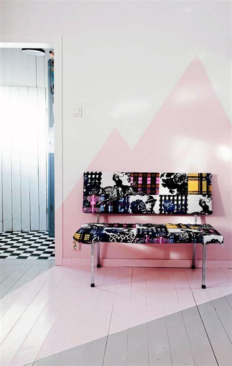 tapisserie chambre ado peinture décorative dessin géométrique sublimez les murs