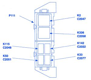 ford ranger xlt  auxiliary relay fuse boxblock