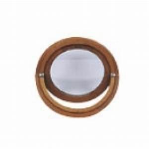 Oeil De Boeuf Bois : oeil de boeuf vitr ovale en bois exotique 65 x 50 cm ~ Nature-et-papiers.com Idées de Décoration