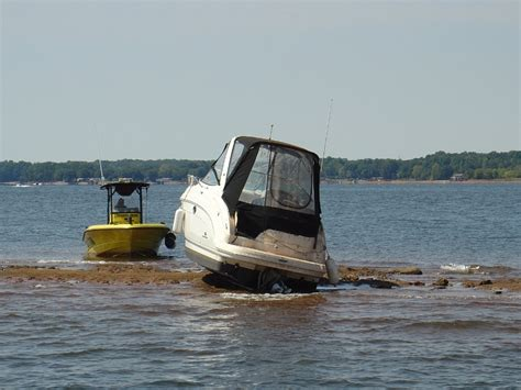 Lake Norman Boating by Lake Norman Is Low Even Seatow Got Stuck Assessing The