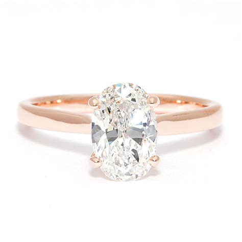 bremer jewelry 14k rose gold diamond engagement ring