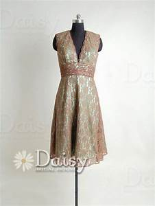 vintage lace bridesmaid dress pale brown lace by With brown lace dress wedding