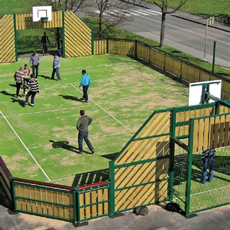 omg  wooden outdoor sports pitch muga multi  games