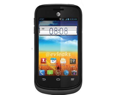at t zte phone zte avail 2 bluetooth gps android 3g phone att