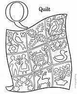 Quilt Coloring Pages Activity Letter Printable Sheet sketch template