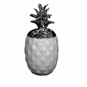 Ananas Deco Argent : pot ananas blanc et argent 27 cm ~ Teatrodelosmanantiales.com Idées de Décoration