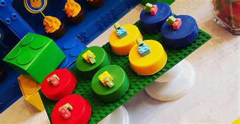 karas party ideas bright colorful lego birthday party