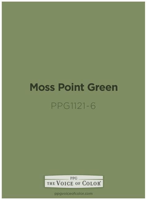 moss point green paint color by ppg voice of color is