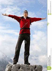 Mountaineer Man Enjoying The Landscape Royalty-Free Stock ...
