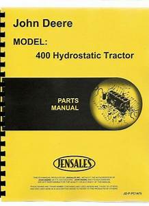 John Deere 400 Lawn Garden Tractor Parts Manual Riding