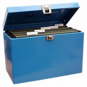 metal file box blue lever arch files box files at With metal document file box