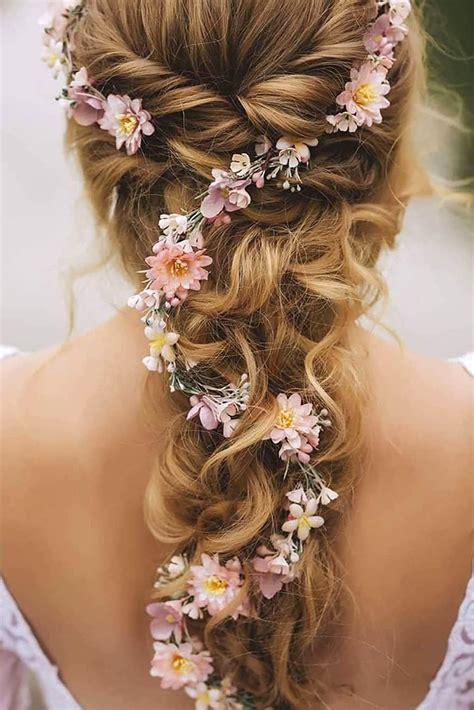 unforgettable wedding hairstyles  flowers
