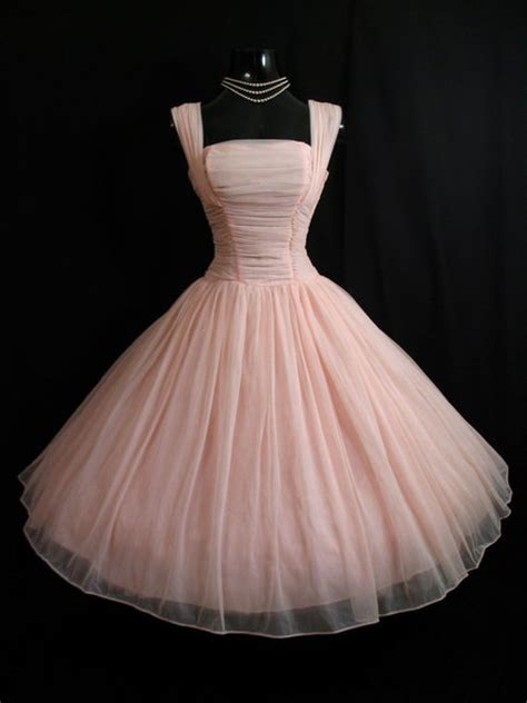 vintage pink short chiffon homecoming dress party