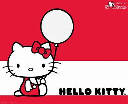 Kitty Hello Background Melody Balloon Wallpapers Screen