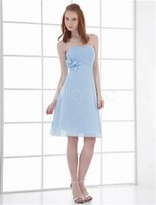 Robe Bleu Demoiselle D Honneur : robe demoiselle d 39 honneur a ligne bleu ciel claire en chiffon style ~ Dallasstarsshop.com Idées de Décoration