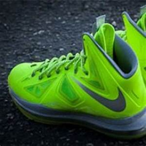 Lebron X basketball shoes in neon yellow from Nike