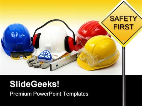 health  safety powerpoint templates safety concept