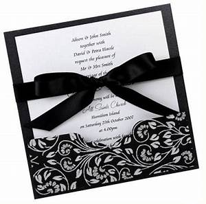 unique modern wedding invitations for your big day With black and white bow wedding invitations