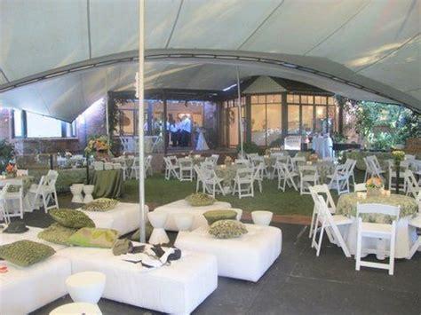 stretch tent garden wedding