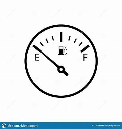 Empty Gauge Fuel Icon Clipart