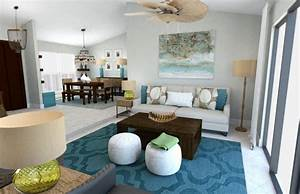 Beach decor 3 online interior designer rooms decorilla for Design living room online