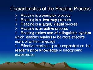 1 Nature Of Reading