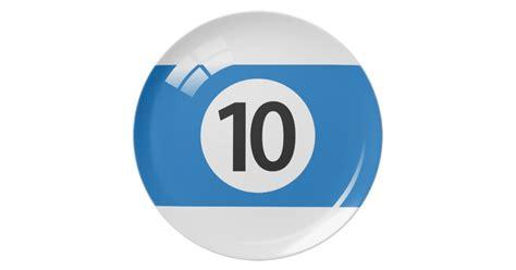 number  billiard  pool ball novelty plate zazzle