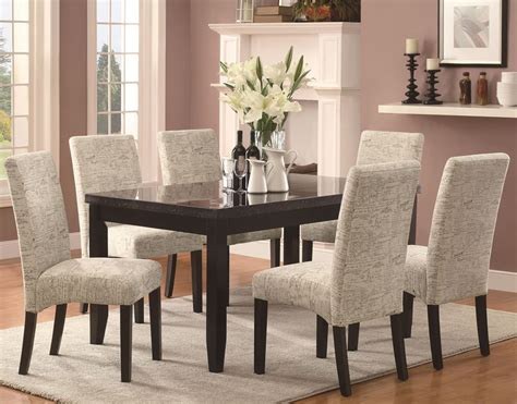 Covered Dining Room Chairs, Parson Fabric Dining Room