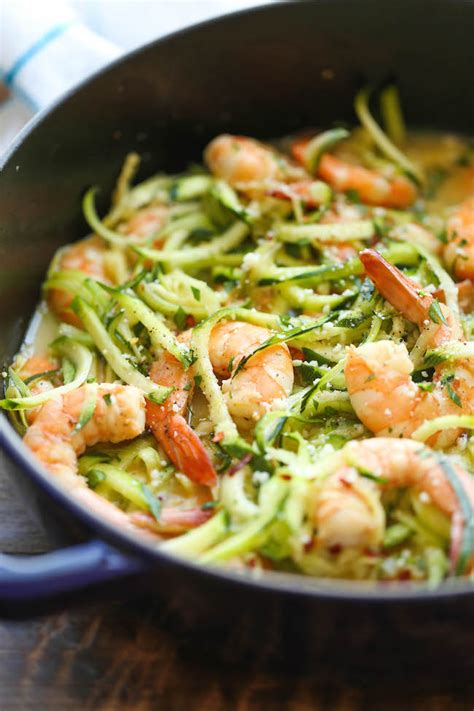 zucchini shrimp scampi damn delicious